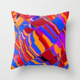 and orange Throw Pillow