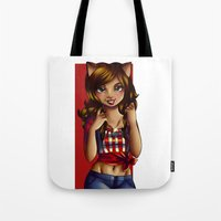 jessica lange Tote Bags featuring Jessica by JupiterBlossem
