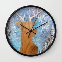 just heavenly, deer Wall Clock
