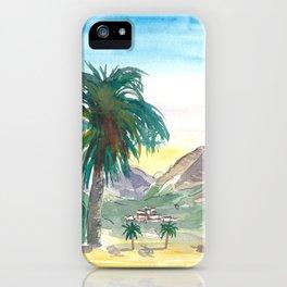 La Gomera Valle Gran Rey View with Palms iPhone Case