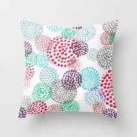 bubbles Throw Pillows featuring Bubbles by Snehal Jain