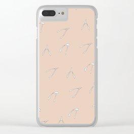 Wish Bone Clear iPhone Case