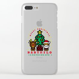 baby milo christmas Clear iPhone Case