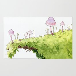 Mushrooms and Moss Rug