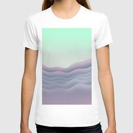 iso mountain sunset T-shirt