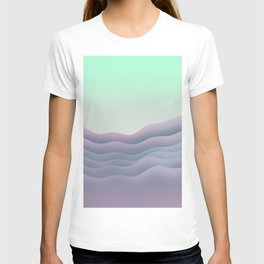 iso mountain sunset T-shirt