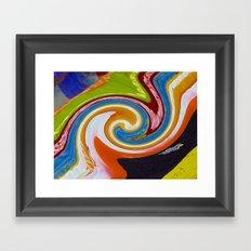 spirals color material Framed Art Print
