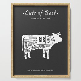 Butchery Guide Cuts Of Beef Serving Tray