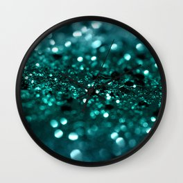 Sparkling OCEAN Glitter #1 #shiny #decor #art #society6 Wall Clock