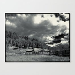 Pastoral view in Black and White Canvas Print