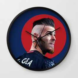 De Gea Digital Painting Wall Clock