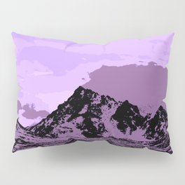 Chugach Mountains - EggPlant Pop Art Pillow Sham