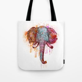 Watercolor Elephant Head Tote Bag