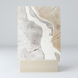 Feels: a neutral, textured, abstract piece in whites by Alyssa Hamilton Art Mini Art Print