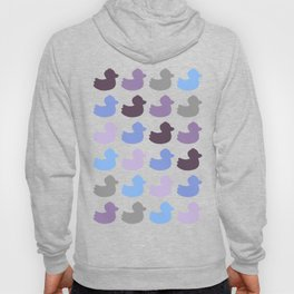 Ducky ducks pattern (blue / purple edition) Hoody