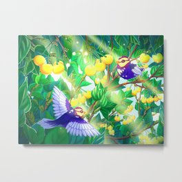 The seasons | Summer birds Metal Print