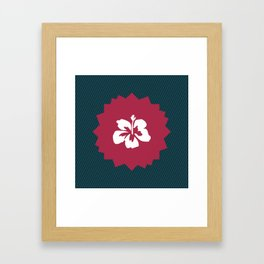 Illustration of a beautiful white flower Framed Art Print