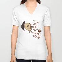 zuko V-neck T-shirts featuring Calming Tea by Allicyn's Art