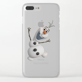 funny olaf Clear iPhone Case