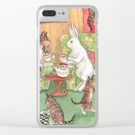 Tea with the Tabbies Clear iPhone Case