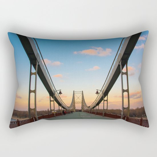 Pedestrian bridge in Kiev Rectangular Pillow