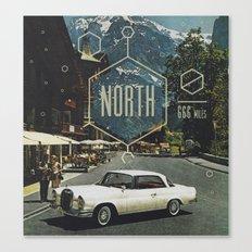 666 miles north Canvas Print