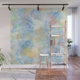 Tangled Blue Fireworks Wall Mural