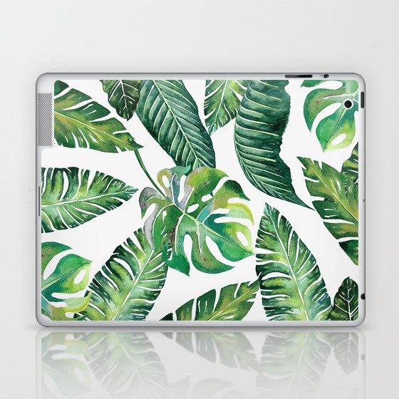 Jungle Leaves, Banana, Monstera #society6 Laptop & iPad Skin