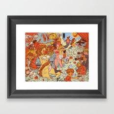 Milk & Blood Framed Art Print