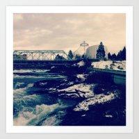 Bridge Over Troubled Waters Spokane, WA  Art Print