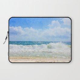 Crashing Waves at the Beach Laptop Sleeve