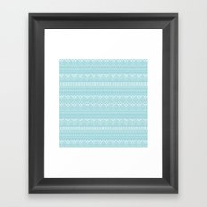 Weave (blue) Framed Art Print