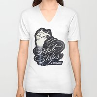 """ships V-neck T-shirts featuring """"The White Ships Lounge"""" by XRAY"""