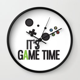 It's Game Time Wall Clock