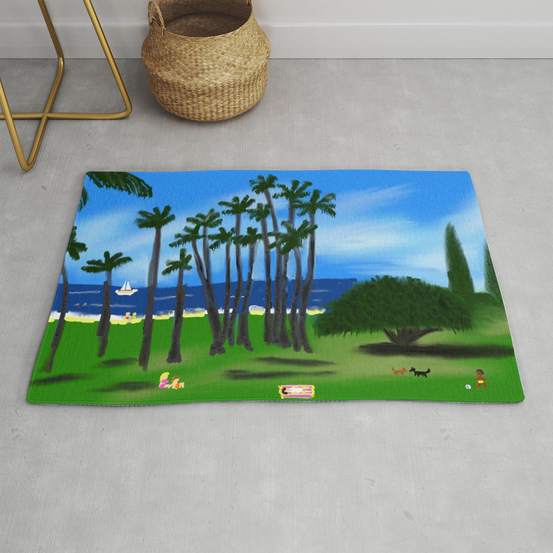 Hawaiian Holiday Rug By Barefootartonline