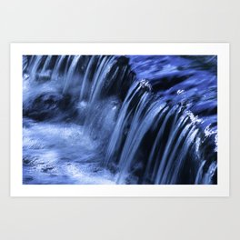 Jackson Creek Bubbles Over Rocks And Roots Art Print
