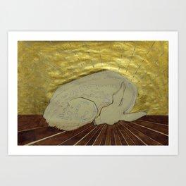 Dreaming Fawn Art Print