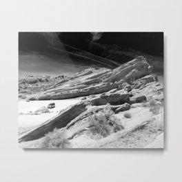 Vasquez Rocks in Agua Dulce, California - Black and White Metal Print