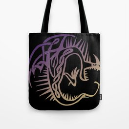 Deadly Nadder Purple and Gold Tote Bag