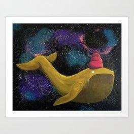 Galactic Whalecorn Art Print