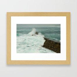 Sennen cove breakwater Framed Art Print