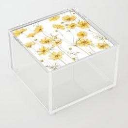 Yellow Cosmos Flowers Acrylic Box