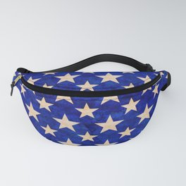 Gold stars on a dark blue background. Fanny Pack