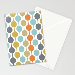 Retro Circles Mid Century Modern Background Stationery Cards