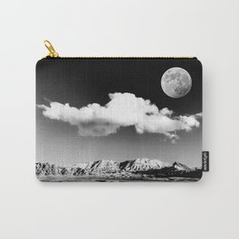 Black Desert Sky & Moon // Red Rock Canyon Las Vegas Mojave Lune Celestial Mountain Range Carry-All Pouch
