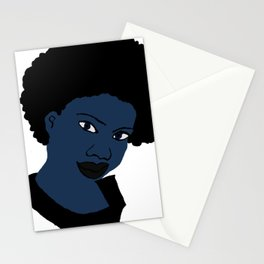 Love Your Beautiful Afro Blue Natural Hair Stationery Cards