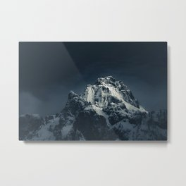 Darkness and mountain Metal Print
