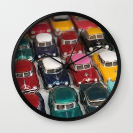 Vintage Retro Design Illustration Cuba Cars mini Wall Clock