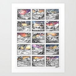 TREASURE (DRAWING & PHOTOGRAPHY) - Visothkakvei Art Print