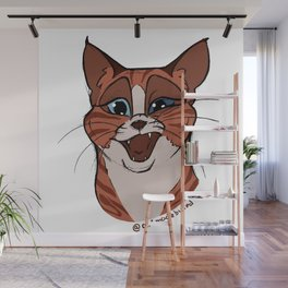 Happy Funny Cat Wall Mural